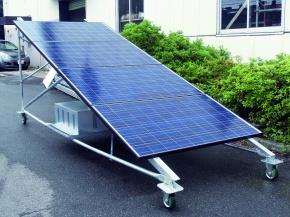 中央ビルト工業、仮設太陽光発電架台を開発