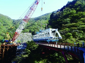 日鉄住金P&E、三重・滋賀ライン国道306号 配管工事順調に進捗