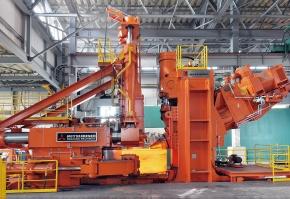 三菱長崎機工 リング圧延設備完成 世界最大級の加圧力