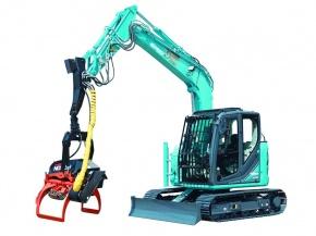 コベルコ建機、林業機械にクレジット カーボン・オフセット活用