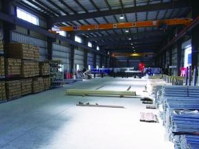 橋本総業、東雲鋼管倉庫が稼働 在庫可能重量350トン