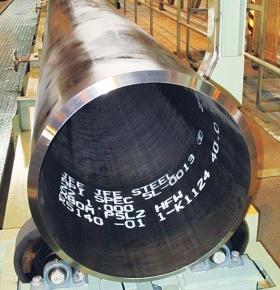 JFEスチール X80グレード電縫鋼管、世界初管厚1インチ開発