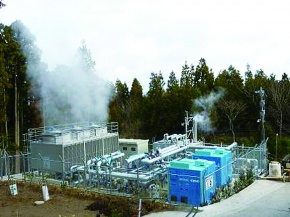 神戸製鋼、小型バイナリー発電機 別府温泉に2台納入