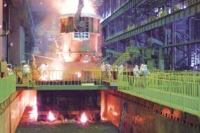 常石鉄工、若松工場で鋳込み式