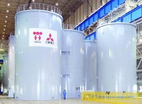 三菱重工、福島第一原発用汚染水貯蔵タンク 工場完成型を初出荷
