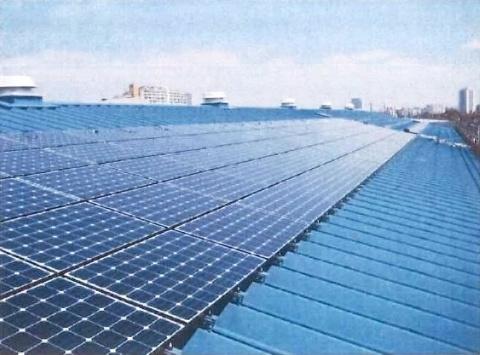 麻布成形、太陽光発電パネル設置