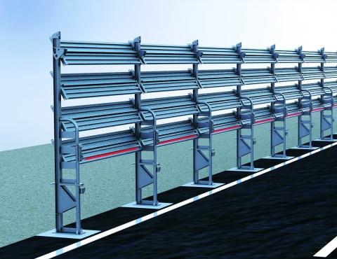 理研興業、防雪柵に高輝度SMD 視認誘導方法を共同開発