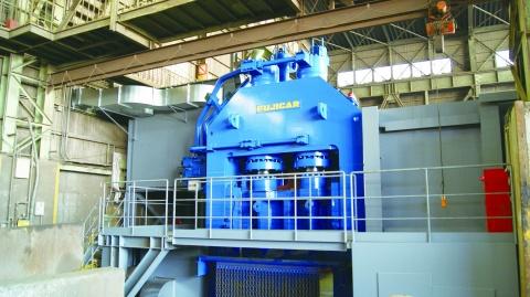 シマブン、神戸で大型設備更新 1250トンマウントシャー導入