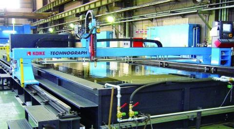 アロイ、茨城に水・乾式兼用 プラズマ切断機導入