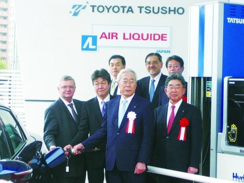 豊田通商、水素ステーション竣工式 来月めど営業開始