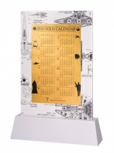 田中貴金属ジュエリー・スター・ウォーズ純金ビッグカレンダー2016・裏面1512C