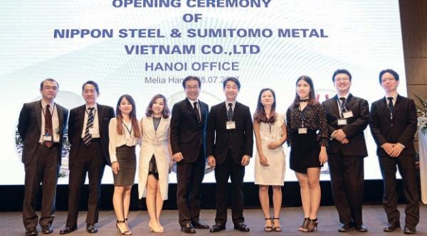 新日鉄住金、ベトナム現法ハノイ駐在事務所の開所式に160人参加