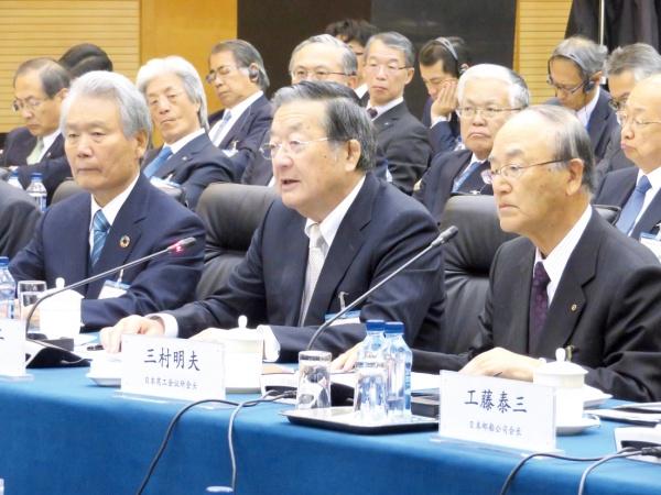 日中経済協会合同訪中代表団 ビジネス環境改善を