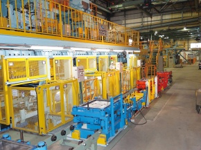 高周波鋳造、生型造型ライン更新