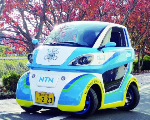NTN、軽ナンバー取得 公道走行可能に 2人乗りEV車「Q,mo(キューモ)」