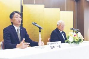 左から岡本取締役・石山社長