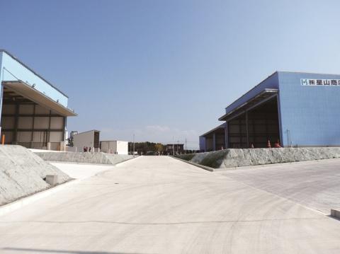 星山商店、竹迫竣工 見学会開く 機能分散と効率化推進