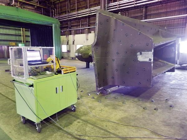常石鉄工 若松に3次元スキャナー、カメラ測定で加工精度向上