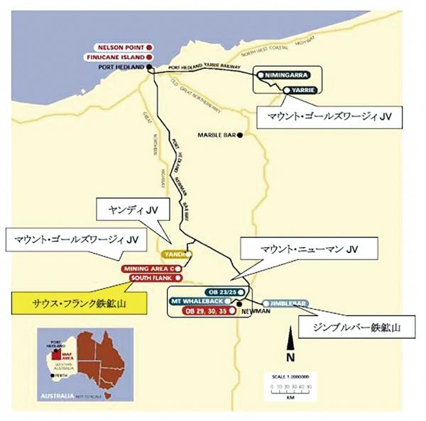 BHP・伊藤忠商事・三井物産 西豪で新規鉄鉱石開発
