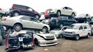 自動車解体業者のヤードで在庫が滞留