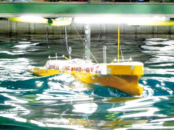 海技研、世界初の模型船試験技術確立 捩りに伴う影響把握へ