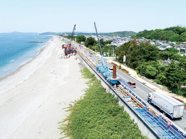 新日鉄住金 ジャイロプレス工法、南海トラフ津波対策に初採用
