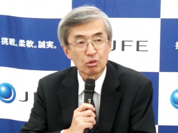 JFEHD、経常益4割増1435億円