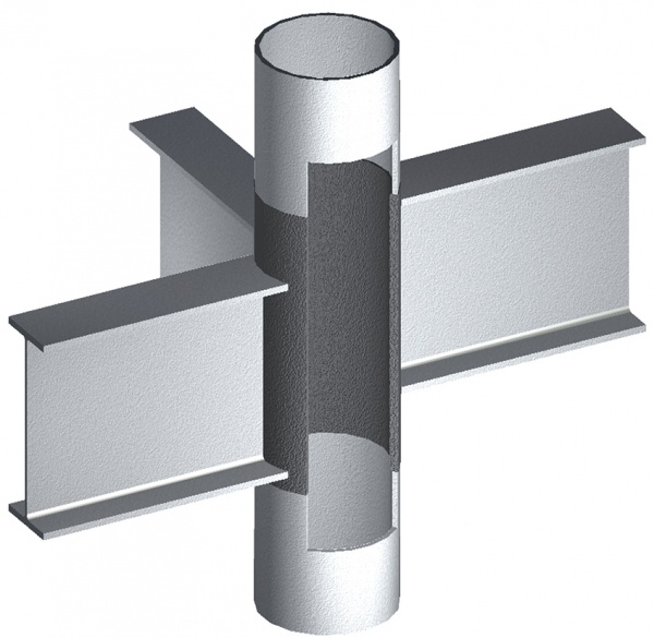 ナカジマ鋼管 ノンダイアフラム構法、円形鋼管柱で実現