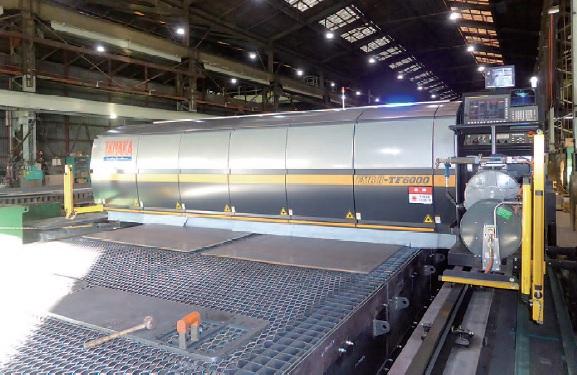 鬼頭鋼材、ファイバーレーザー導入 対応板厚拡大で生産性向上