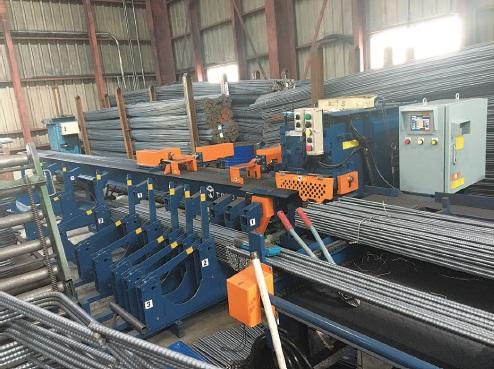大雅工業 本社工場の鉄筋自動切断機、最新鋭機が本稼働