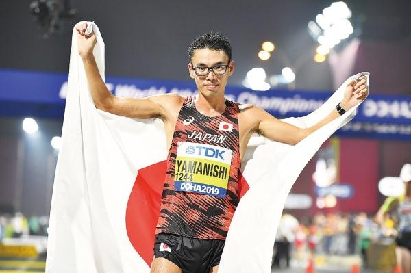 愛知製鋼・山西選手 陸上世界選手権男子20キロ競歩 日本勢初の金メダル獲得 東京五輪代表の座つかむ