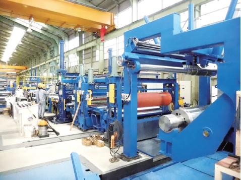 京江シャーリング、新スリッターが本稼働 板厚3.2ミリに拡大、ハイテン対応強化
