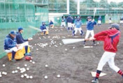 日本製鉄鹿島・野球部 小中学生向け野球教室開催
