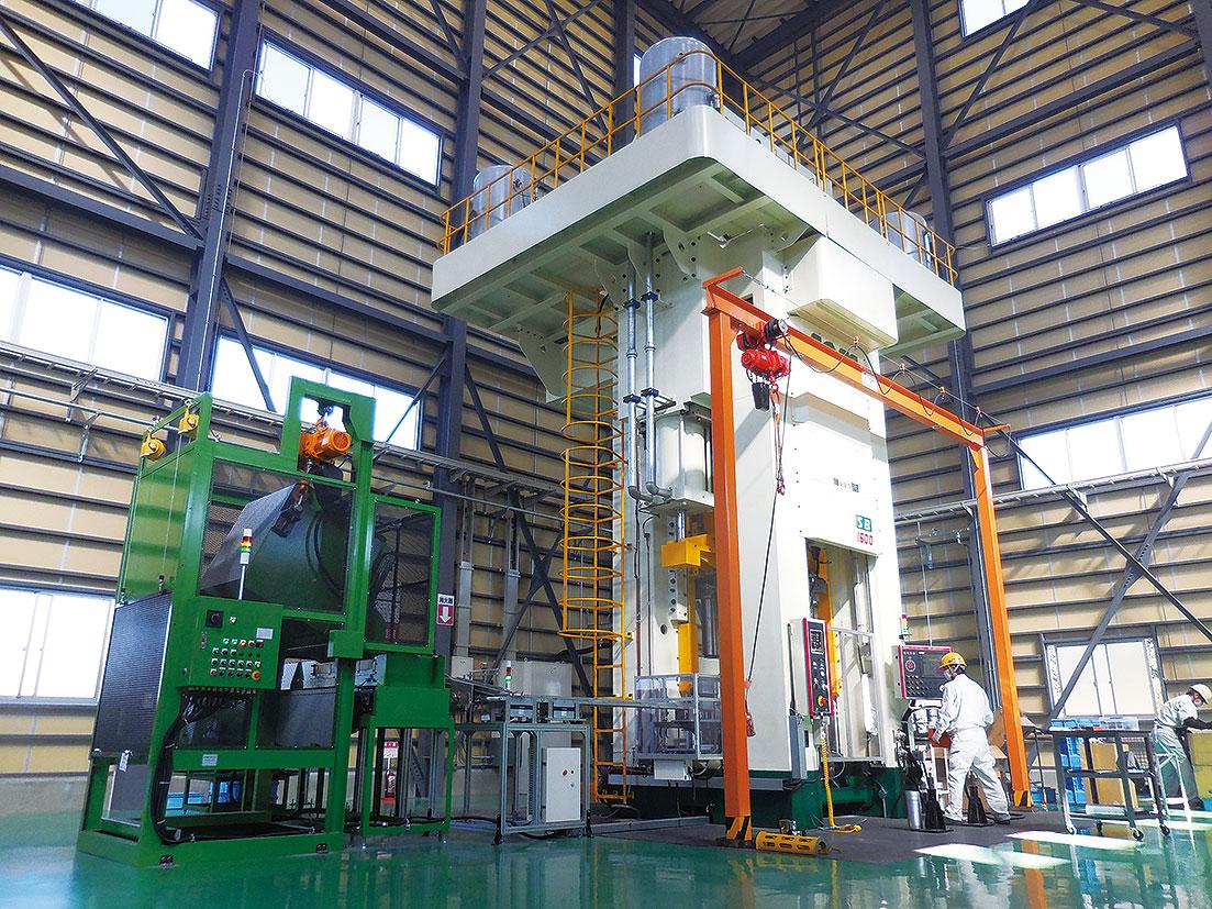 日本圧延工業  縦型1600トンプレス新設