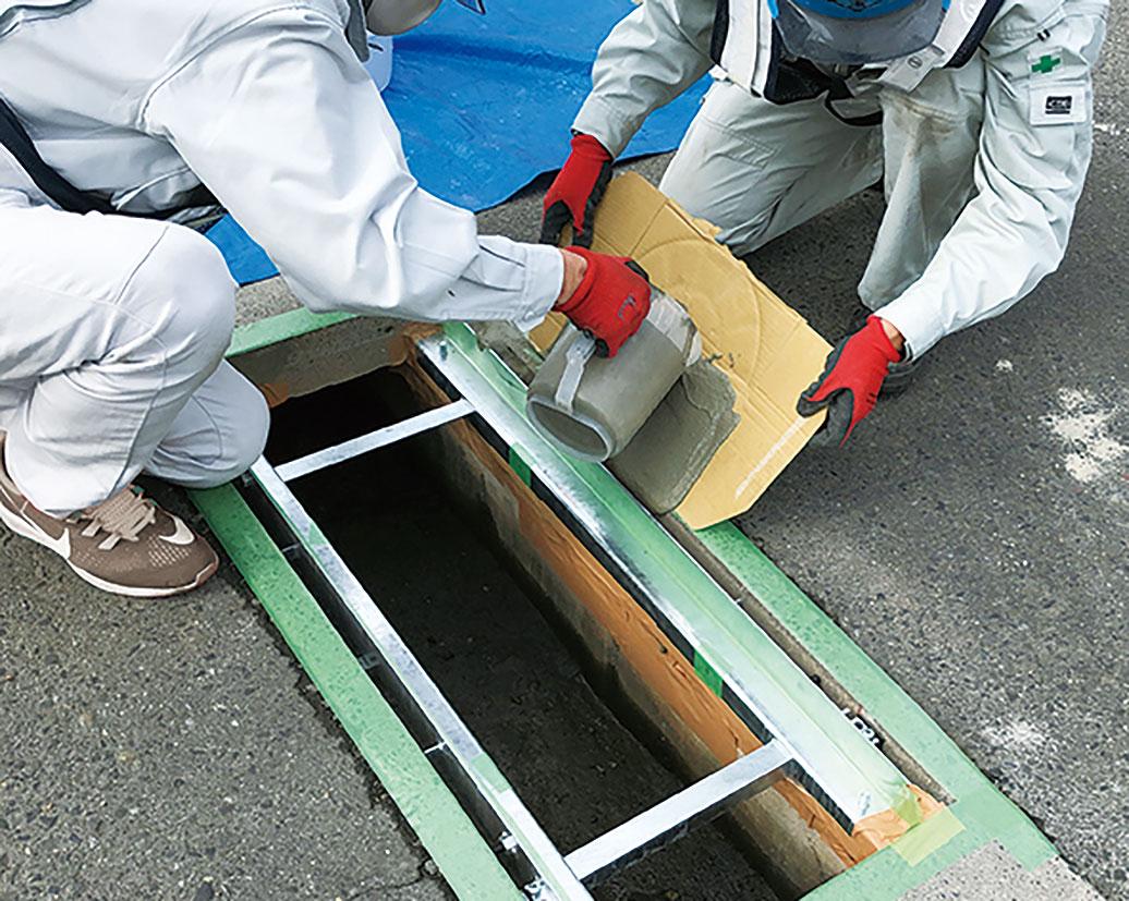 宝機材、既存側溝修繕で新工法