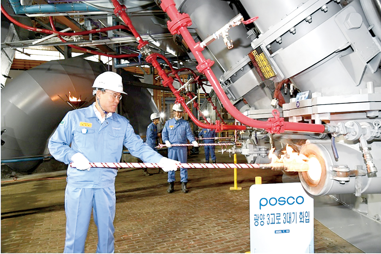 POSCO、光陽第3高炉火入れ スマート操業技術導入