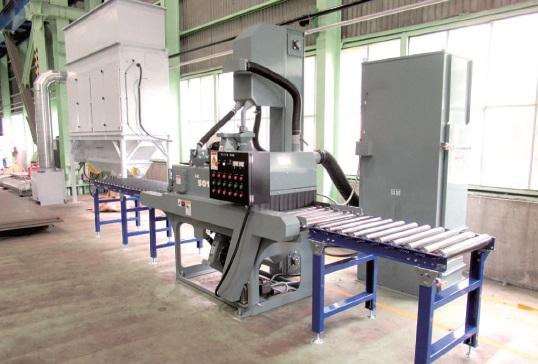 高砂金属工業・泉北工場、ショットブラスト導入