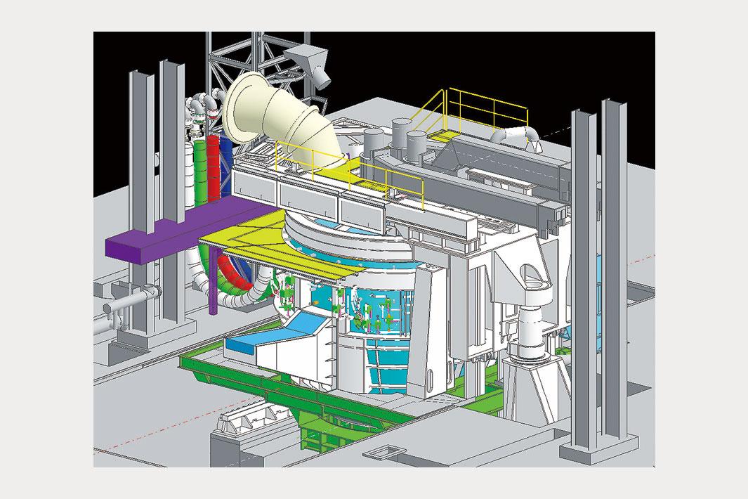 千代田鋼鉄、電気炉を更新 大同特製の省エネ旋回式