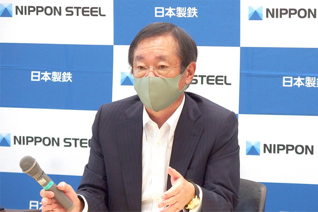 日本製鉄・橋本社長の会見要旨 中国を意識し内外戦略強化