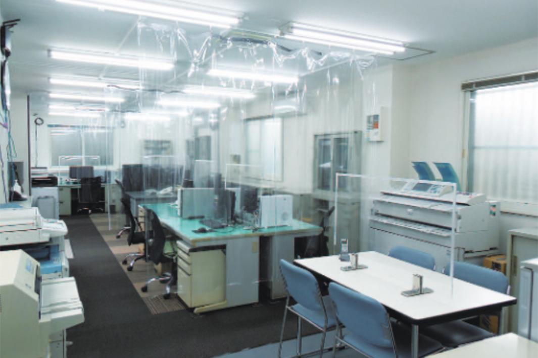 堀精工、事務所棟リニューアル 飛沫感染防止策を強化