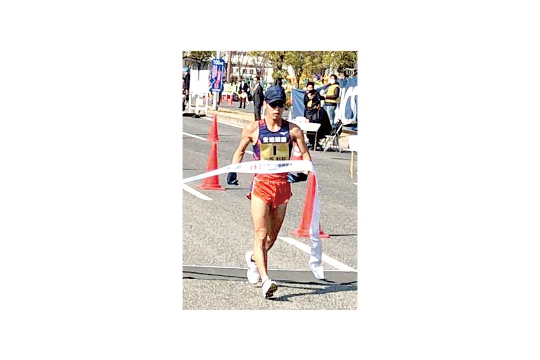 日本陸上選手権・男子20キロ競歩 愛知製鋼・山西選手 大会新記録で2連覇