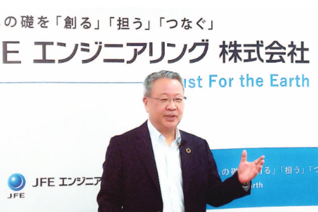 JFEエンジ、4年間で設投2200億円 洋上風力モノパイル製造