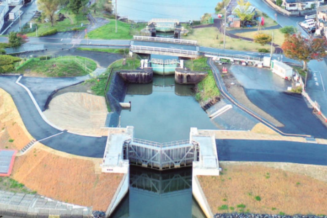 日鉄ステンレス 省合金二相鋼70トン使用の石井水門が全建賞受賞
