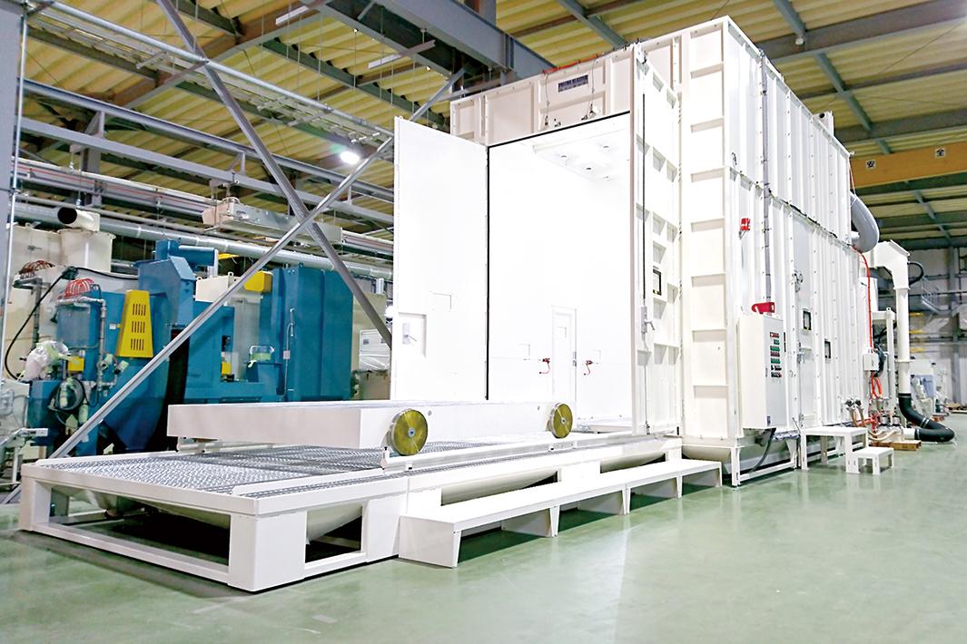 不二製作所の新工場稼働 ブラストルーム販売強化