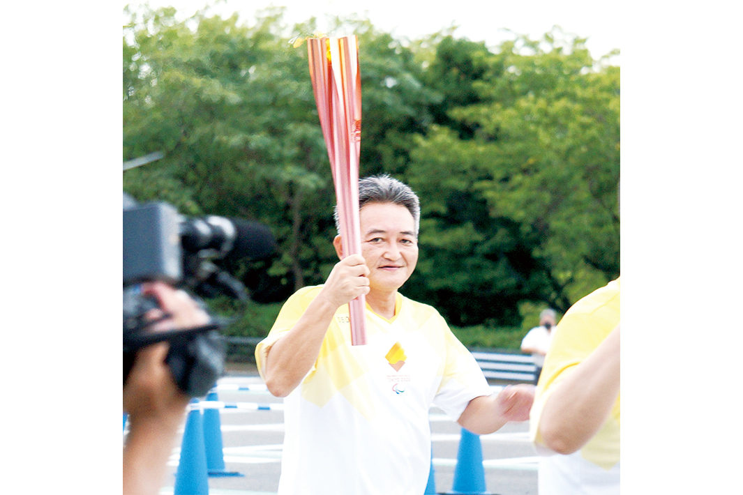 古賀オール、パラ陸上・眞野選手 パラリンピック・聖火イベントに参加