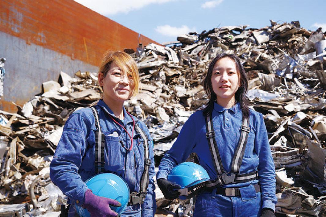 鉄鋼業界で働く/女性工場職編/インタビュー(下)/金属リサイクルに興味を